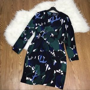 Ann Taylor Blue Green Black Abstract Tree Print